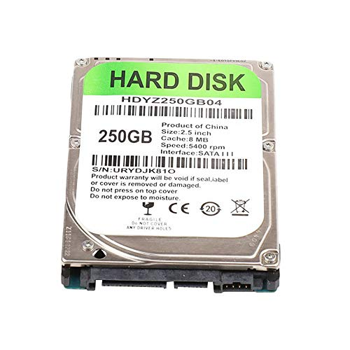 Haude 250G HDD 2.5Inch Laptop Hard Disk Drive SATA 3.0 5400-7200Rpm Hard Disk for Laptop Notebook