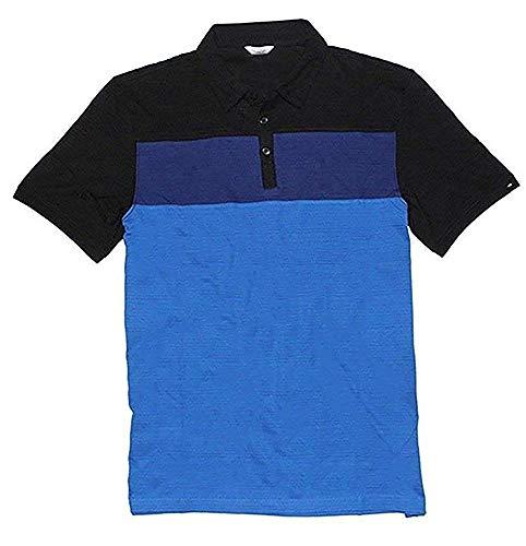 Calvin Klein Men's Lifestyle 100% Cotton Polo Shirt (Nautical Blue Stripe, X-Large)