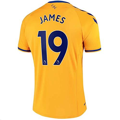 Fimng 2020-2021 Men's Away Soccer Jersey/Short Colour Yellow (Everton J.Rodríguez #19 (M))