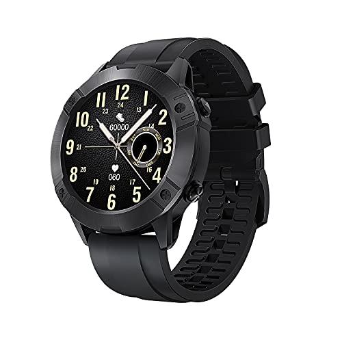 Cubot Smartwatch, Reloj Inteligente Hombre Deportivo 450mAh 5ATM 1.3 Pulgadas con Monitor de Pulso y SpO2, Fitness Tracker Negro 13 Modos de Deporte para Android iOS