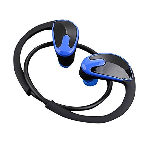 Wsaman Auriculares Bluetooth 5.0 Impermeable, Auricular Bluetooth In-Ear,Auriculares para Trabajo y Deportes Viaje, para Deportes, Oficina en Casa Trabajo,Azul