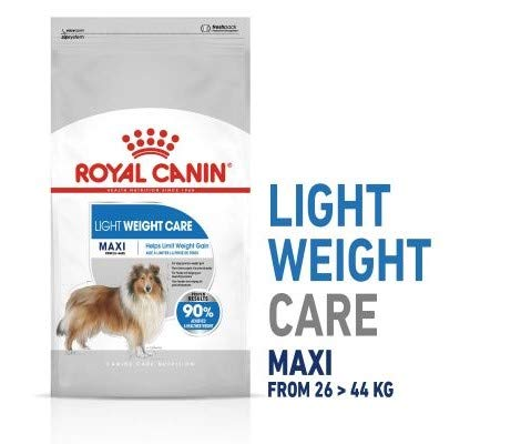 Canin Royal Maxi Light Weight Care 2 x 10kg Balanced Complete Food for Large Breed Adult Dogs Prone to Weight Gain with 27% Protein Content & Just 11% Fat with Fibre for Long-lasting Full Feeling