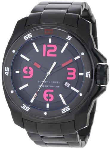 Tommy Hilfiger Men's 1790770 Sport Black Ionized Plated Case and Bracelet Watch