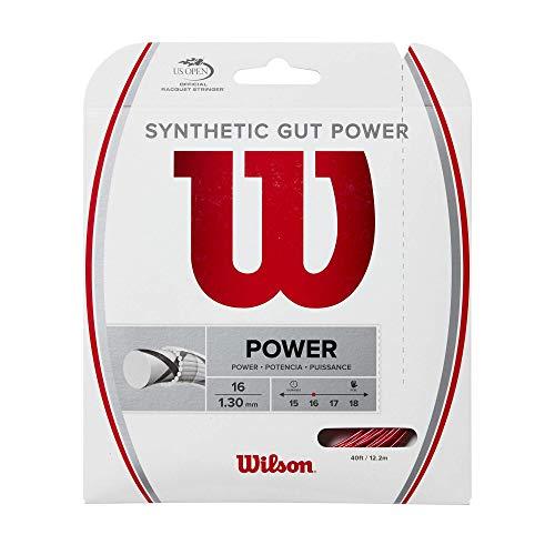 Wilson Synthetic Gut Power, WR830130216 Corda per Racchetta da Tennis, Calibro 16 (1.30mm), Rosso