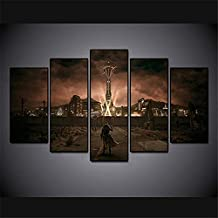 Artwcm Fallout New Vegas 5PCS Oil Paintings Modern Canvas Prints Artwork Printed on Canvas Wall Art for Home Office Decora...