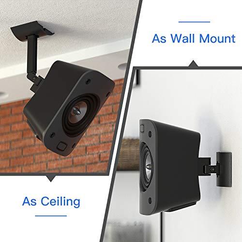 Speaker Wall Or Ceiling Mount for Logitech Z906 5.1 Surround Sound Speaker Syestem Tilt and Swivel Adjustable Mounting Bracket for Logitech Z906 Satellite Speakers