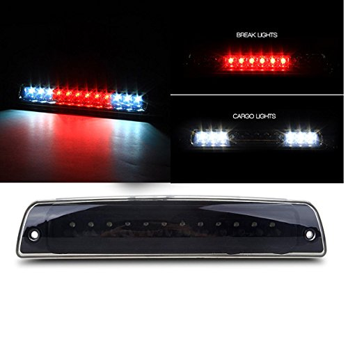 Black Housing Smoke Lens LED 3rd Brake Light Cargo Light High Mount Stop Brake Light for 1994-2001 Dodge Ram 1500 2500 3500