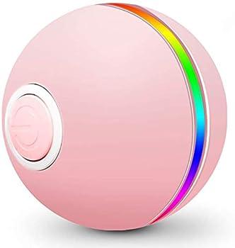 FAYOGOO Jouet pour Chat Interactif Balle pour Chat avec LED Lumières 4e génération Jouets Balle Chat pour Chaton et Chiot, Auto-Rotative à 360 Degrés,Chargement USB…