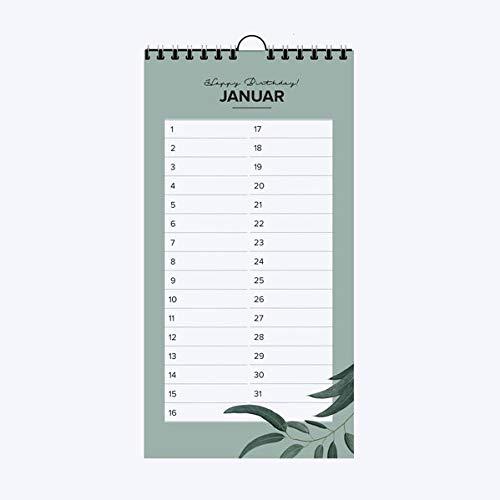 Geburtstagskalender: Ein Wandschmuck für Designliebhaber:Ein dekorativer Geburstagskalender, ohne Jahreszahl