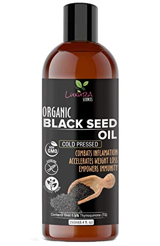 Organic Black Seed Oil (EDIBLE), Kalonji Oil For Hair Growth, Cold Pressed, 100% Pure and Natural 250 ML.Food Grade