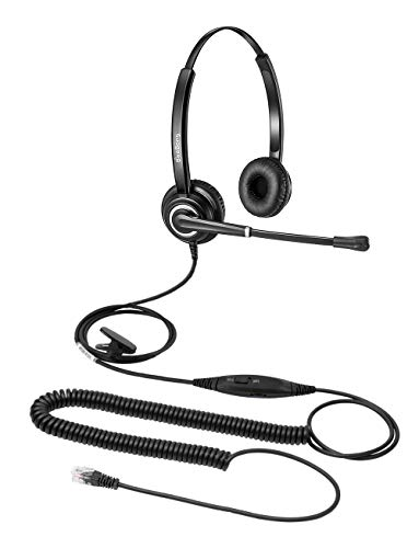 Telefon Headset Cisco IP Telefon Headset RJ9 Call Center Headset mit Noise Cancelling Rauschunterdrückung Mikrofon Nur für Cisco IP Telefone