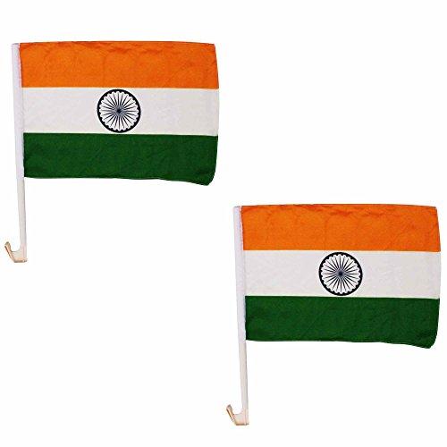 Car Flags Autoflaggen Indien, 40 x 30 cm, für Cricket-Fans