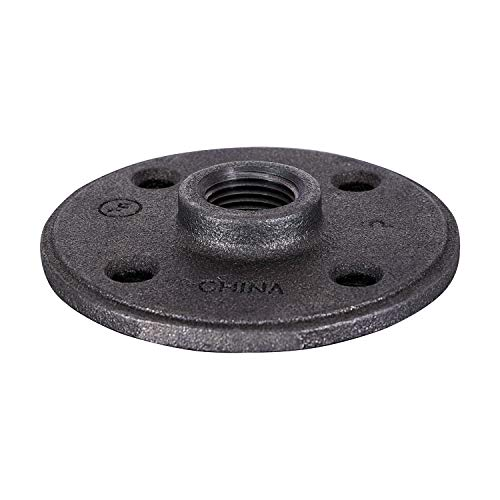 SUPPLY GIANT CNGM0336 Black Malleable Floor Flange with Four Screw Holes, 1.25', 1-1/4