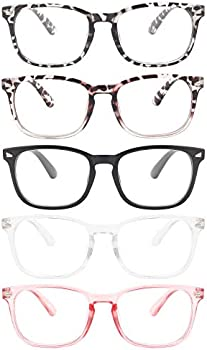 5-Pack Migsir Blue Light Blocking Glasses