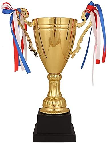 Party Favors Props Props賞を受賞大人33 5cmのための金属トロフィーゴールデントロフィーメタルコーポレートカップ賞受賞-45cm