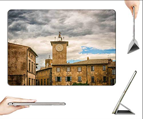 Case for iPad Pro 12.9 inch 2020 & 2018 - City Middle Ages Italy Orvieto Tower Clock