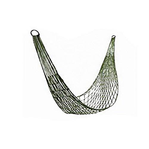 Balançoire Voyage Camping swing Hammock Hanging confortable en nylon corde hamac Sleeping hamac for la randonnée camping en plein air Voyage Sports Plage Paddock Siege Suspendu (Color : Green)