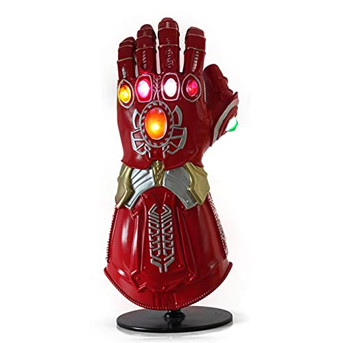 BCCDP Marvel Avengers Guante de Thanos con Luz Infinity Gauntlet Vengadores 4 Final del Juego Iron Man Infinity Gauntlet Disfraz de Cosplay Halloween Prop Adulto