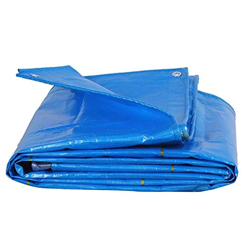 Jonist Outdoor Rain Cloth Tarpaulin Waterproof Heavy Duty Sun Protection PE Tarp Truck Farm Tent, 9 Size (Color : Blue, Size : 4x6m)