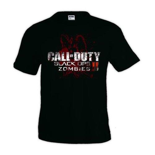 Mx Games Camiseta Call of Duty Black Ops II Zombies Manga Corta...