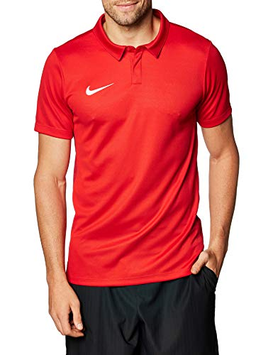 Nike Academy 18 Polo SS Polo d'entrainement Homme University Red/Gym Red/White FR: L (Taille Fabricant: L)