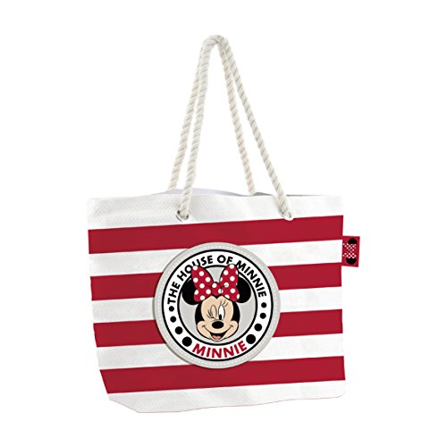 Minnie Mouse 2018 Borsa da spiaggia, 48 cm, Multicolore (Multicolor)