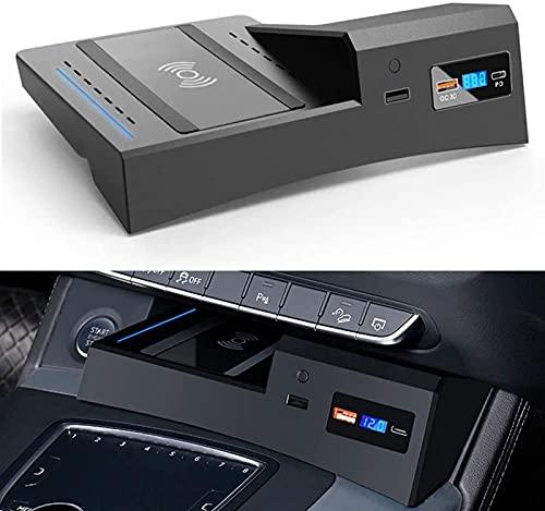 AutomóVil Cargador InaláMbrico, para Audi Q5 SQ5 2021 Panel de Accesorios de La Consola Central, Qi Smartcarga InduccióN RáPida Almohadilla para iPhone Samsung