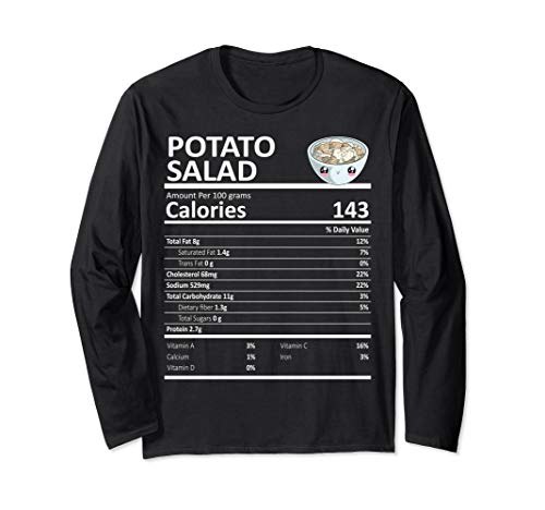Potato Salad Nutritional Facts Thanksgiving Kartoffelsalat Langarmshirt