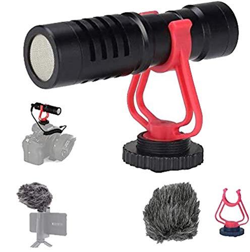 Microfono Fucile Caccia Video Universale Vlog Compact DSLR Microfono compatibile Videocamera Videocamere DSLR Tablet Mac Smartphone Registrazione Youtube Intervista
