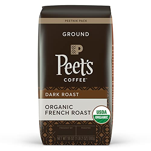 Peet's Coffee, Organic French Roast - Dark Roast Ground Coffee - 18 Ounce Bag, USDA Organic