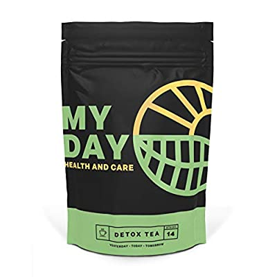 My Day 14 Day Detox, Immune System Support, Weight Loss and Gentle Cleanse 100% Natural Herbal Tea, Teatox for Belly Fat,Laxative-Free,14 Servings from My Day