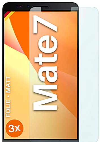 moex Schutzfolie matt kompatibel mit Huawei Ascend Mate 7 - Folie gegen Reflexionen, Anti Reflex Bildschirmschutz, Matte Bildschirmfolie - 3X Stück