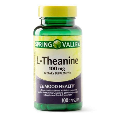 Spring Valley L-Theanine 100 mg Mood Health, 100 Capsules