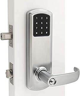 "Prodigy SmartLock Commercial Grade Interconnect Lock 4000 with Keyless Entry RFID (Right Hand 4"", Satin Chrome)"