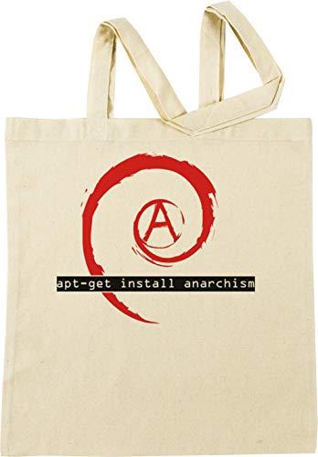 Vendax Apt-Get Install Anarchism Beige Bolsa De Compras