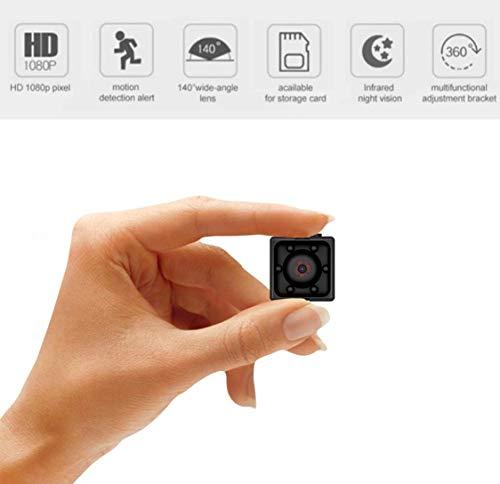 Khool Mini Cámara Espía Oculta es de las camaras espias ocultas mas vendidas 1080P HD Cámara de Vigilancia Portátil Secreta con Detector de Movimiento IR y Visión Nocturna, Cámara Oculta de Seguridad