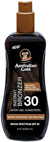 Australian Gold Spf 30 Spray Gel With Bronzer 8 Ounce 237ml 2 Pack product image