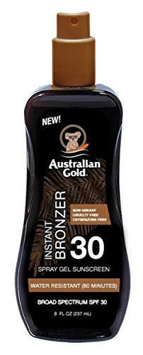 Australian Gold Spf#30 Spray Gel With Bronzer 8 Ounce (237ml) (2 Pack)
