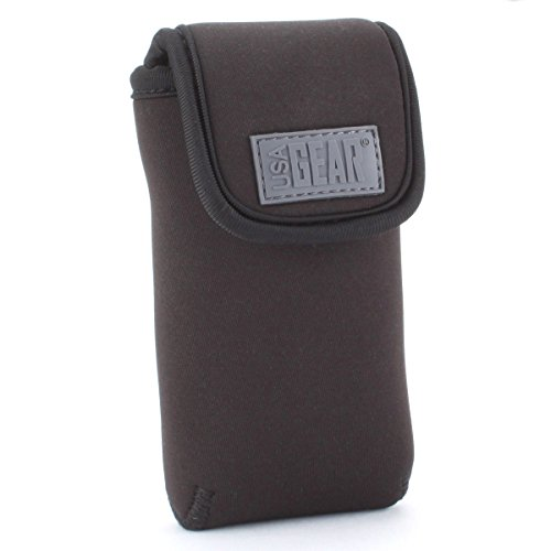 USA Gear Portable Pocket Radio Case Compatible with C. Crane CC Pocket, Sangean DT-400W, Philips AE1500, Kaito KA200, Sony ICF-S10MK2 and More - with Carabiner Carrying Clip, Belt Loop