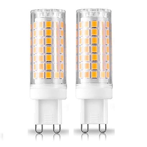 All-New G9 LED Bulb, Dimmable G9 Bi-Pin Base Bulbs, 75W 80W Equivalent, 120V 8W, 90X2835SMD 360 Degree Indoor Lighting (Warm White)
