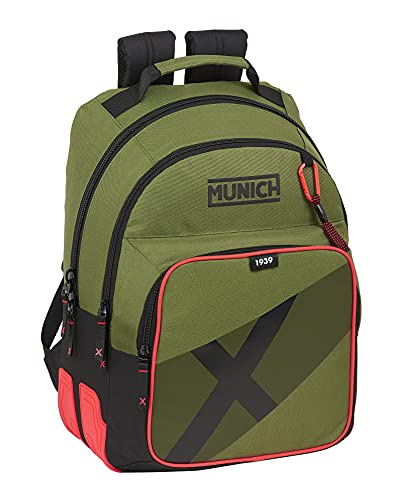 Safta Mochila Escolar de Munich Dynamo, 320x150x420 mm, Verde