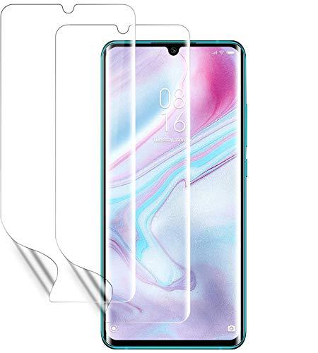 Wiestoung Schutzfolie für Xiaomi Note 10 [2 Stück] [Premium-Qualität] [Volle Abdeckung] [Blasenfreie] [Klar HD] Bildschirmschutzfolie Weich TPU Folie für Xiaomi Note 10 (Nicht Panzerglas)