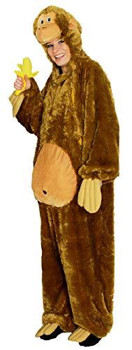 narrenkiste K332517/T2881-140-152 braun Kinder AFFE Affen Kostüm Schimpansen Orang Utan Overall Gr.140-152