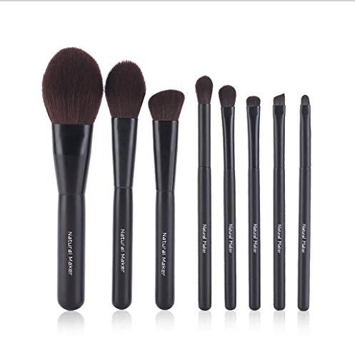 Pinceaux Maquillage 8pcs / set brosses cosmétiques de maquillage ensemble, outil de brosse à lèvres de fard à paupières de base de poudre