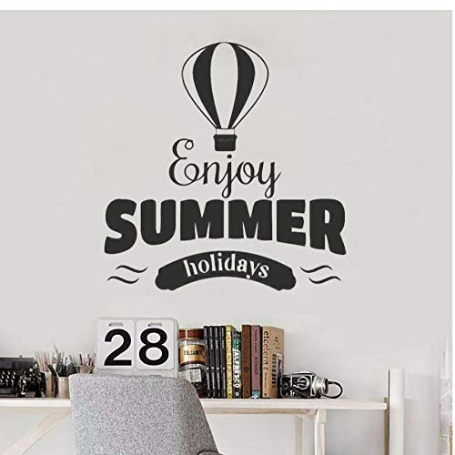Wall Stickers,hot air balloon Home Decor For Art Wall PVC DIY Living Room Carved Custom Fashion Nursery Waterproof Self-sticking 57x58cm