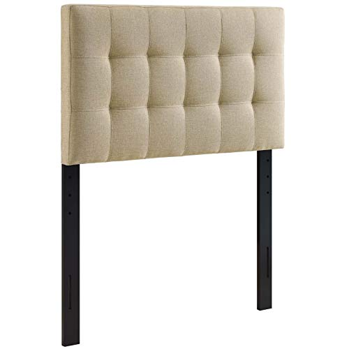 Modway Lily Tufted Linen Fabric Upholstered Twin...