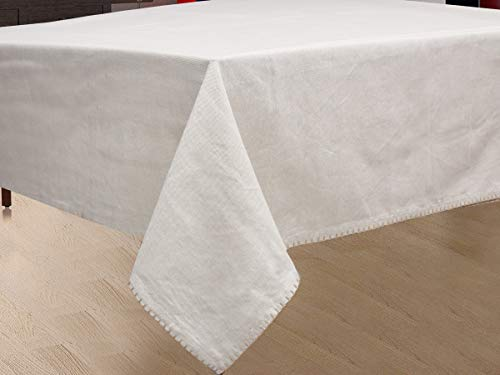 NORA HOME Mantel Smooth 100% algodón hasta 3 Metros (Lino, 150x300cm)