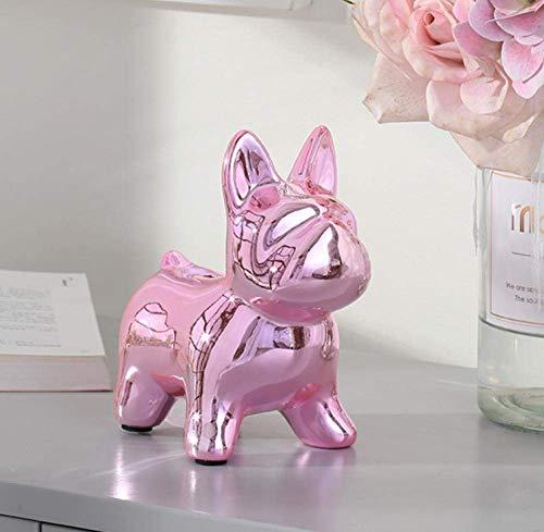 LYMUP Decoraciones Arte Craft Bulldog Cerámica Decoración Casa Sala de Estar TV Gabinete Enfriador de vinos Piggy Bank