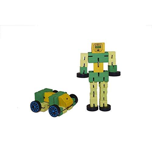 Juguetutto - Robot Transformer Mediano - VERDE - Juguete de madera