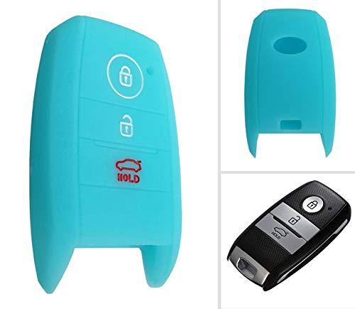 CK+ Kia Auto-Schlüssel Keyless Hülle Key Cover Case Etui Silikon für Rio Pro Sportage Sorento Optima - Leuchtend Blau